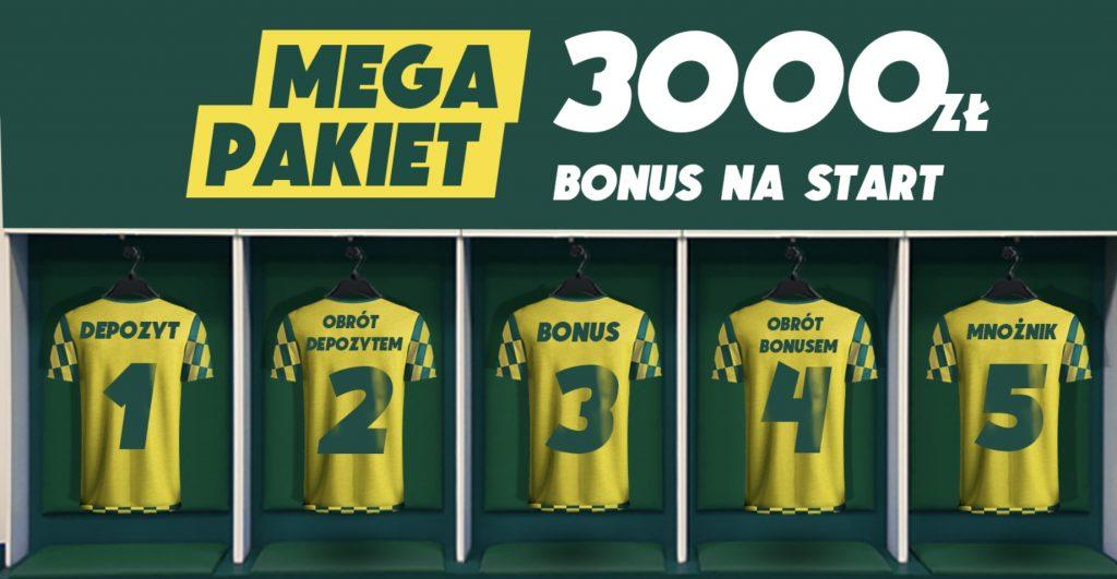 """Betfan bonus powitalny EKSTRA! 3000 zł + 50 freebet z kodem """"BETONLINE"""""""