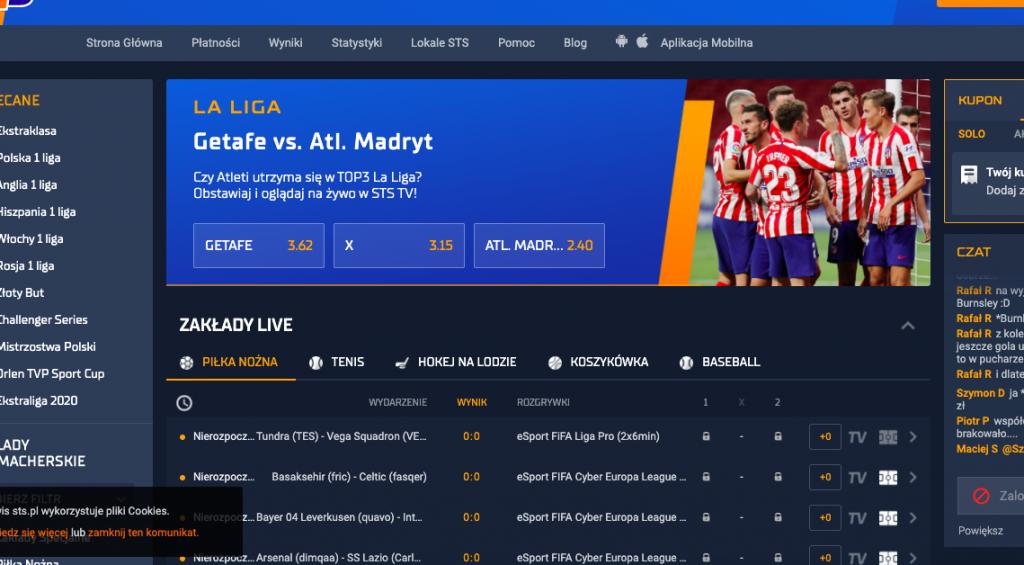 STS.pl - obstawianie i oglądanie meczów
